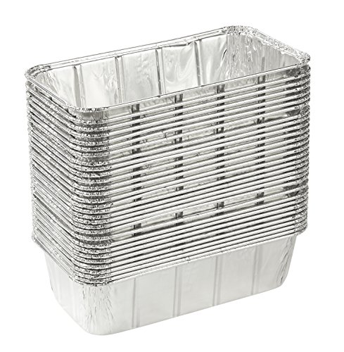 Disposable Loaf Pan - 30-Piece 2-LB Cooking Tins, Rectangular Aluminum Foil Pans for Baking, Roasting, Broiling, Cooking, Cakes, Bread, Lasagna, 8.5 x 2.5 x 4.5 inches