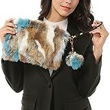 Dikoaina Fashion Women Faux Fur Handbag Evening Clutch Phone and Wallet Purse Lady Bag (Color01)