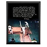 Bill Buckner Facsimile 86 World Series Error Metallic 8 Inches By 10 Inches Story Plaque