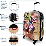 Humty Dumty Disney Avengers Group Green Polycarbonate 22 Inch/55.8 cm Kid's Hard Luggage Trolley Bag