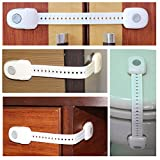 Inventor of the Toilet ABS Child Safety Locks One-Way Switch Baby Safety Locks 3M Adhesive Easy to Install Protect Your Baby Used for Toilet Seat, Fridge, Kitchen Door, Oven, Drawers and Etc (4 Pack, White Grey)