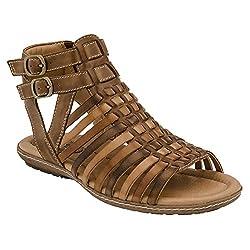 Earth Women's Sky Gladiator Sandal,Almond Multi Soft Leather,US 6 M