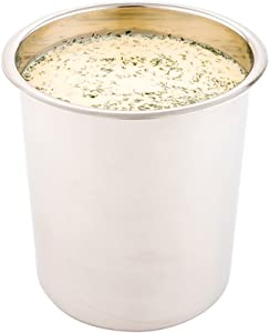 Met Lux 3.5 Quart Bain Marie, 1 Corrosion-Resistant Bain Marie Pot - For Hot And Cold Food, Serve Or Store Food, Stainless Steel Food Pot, Lid Sold Separately - Restaurantware