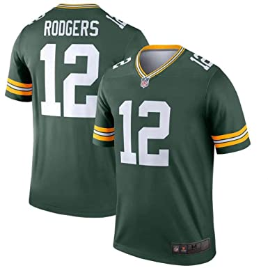 on sale 7970c 5463b Majestic Men's Aaron Rodgers Green Bay Packers #12 NFL Football Jersey-Green