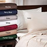 Tuweep 6Pc Bed Sheet Set 1000 Thread Count Egyptian Cotton Cal-King Size Stripe Colors   Collection PREMSET-13466