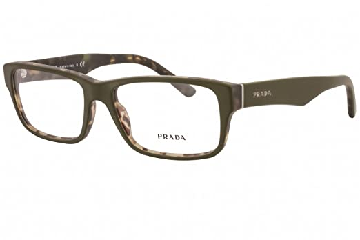 Prada Eyeglass Frames PR16MV UBF1O1-55 - Top Green/matte Tortoise at ...
