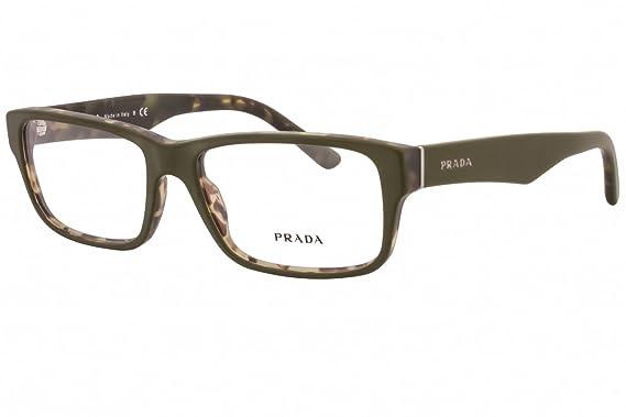 320a47b7ab Prada Eyeglass Frames PR16MV UBF1O1-55 - Top Green matte Tortoise at ...