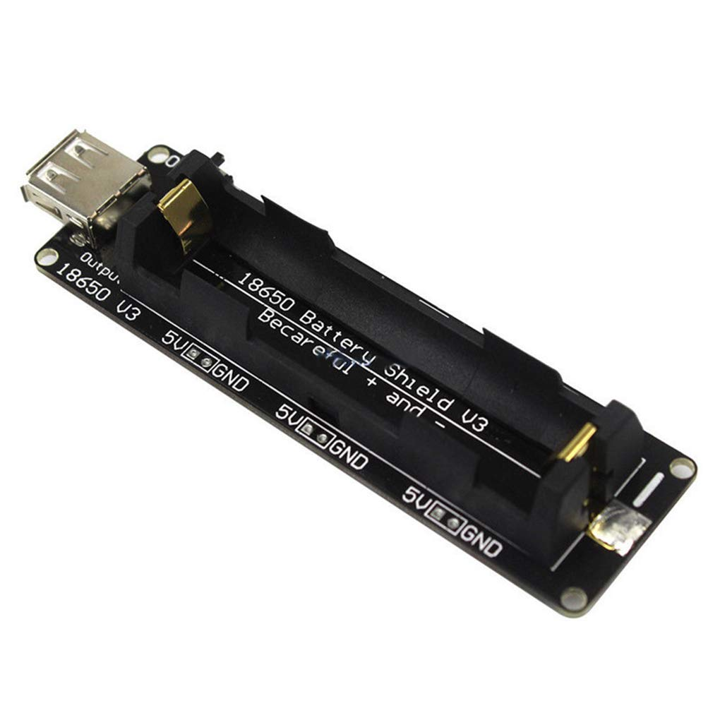 Kongnijiwa Durable 3V / 5V ESP32 18650 Bouclier Batterie V3 ESP32 Remplacement pour Arduino Raspberry Pi