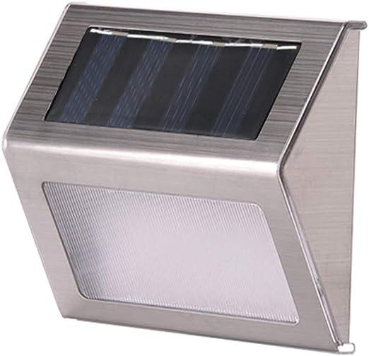 Lámpara Solar de,Luz de escalera de jardín de acero inoxidable Luz de pared de jardín