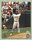Rickey Henderson Oakland A's Autographed Stolen Base Record 8x10 Photo - Autographed MLB Photos