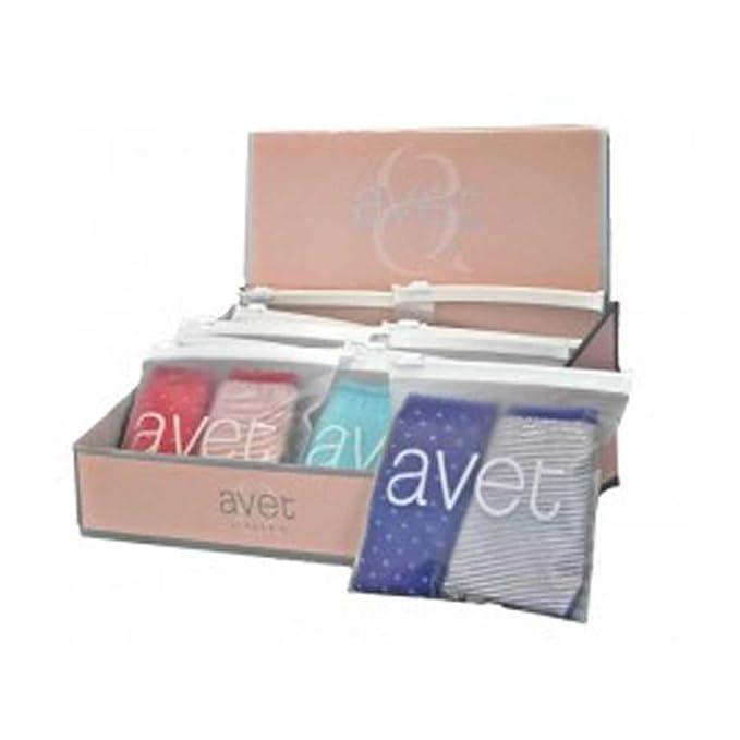 AVET Pack 2 Braguitas de algodón Surtidas 321 - Turquesa, G