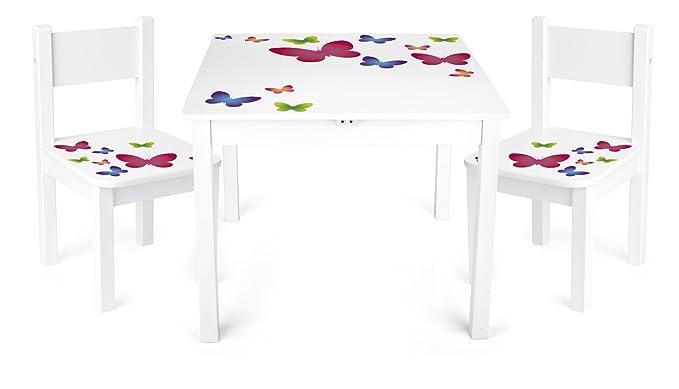 ib style® PAPPILON Kindermöbel 2+1 Sitzgruppe Truhenbank Hartholz B-WARE