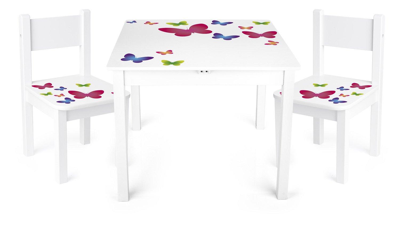 Tavolino Sedie Set Cameretta Per Bambini Tavolo e 2 Sedie In Legno Lettura Gioco Di Gruppo In Classe e Casa Mobili Soggiorno product image
