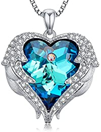 Heart of Ocean Pendant Necklaces for Women Made with...