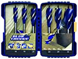 Irwin 6X Blue Groove Wood Drill Bit 6pc Set In Case 16mm – 32mm