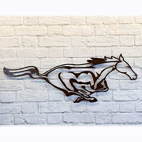 "Galloping Stallion Horse - Metal Wall Art Home Decor - Handmade - Choose your Size 20"", 27"", 33"" or 42"" wide - Choose your Patina Color - Equestrian Art, Hanging Stable Decor, Living Room"