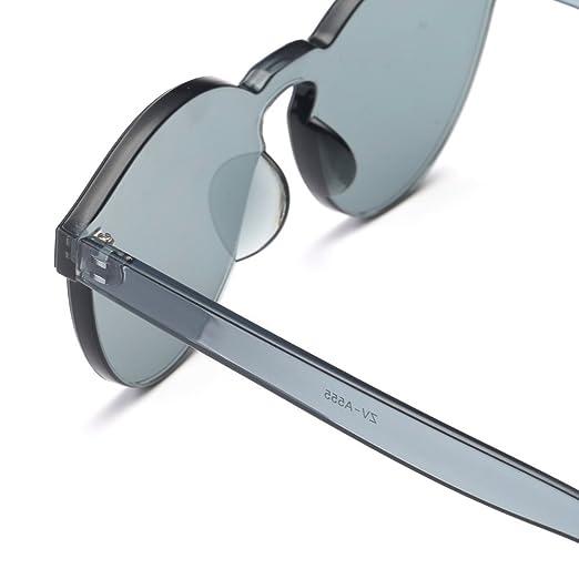 PANPANY Occhiali da Sole Uomo e Donna,Blocco della Cefalea UV retr/ò Occhiali da Sole Ovali Unisex Occhiali da Sole Moda Anti Eyestrain