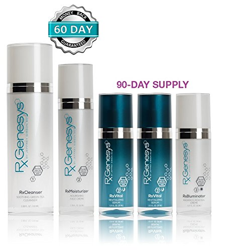 RxGenesys Stem Cell Anti Aging Beauty System with Hyaluronic Acid Skin Care, 5 Piece