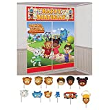 Daniel Tiger's Neighborhood Wall Poster Decorating Kit w/ Photo Props (17pc)