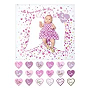 lulujo Baby First Year Milestone Blanket and Cards Set, With Brave Wings