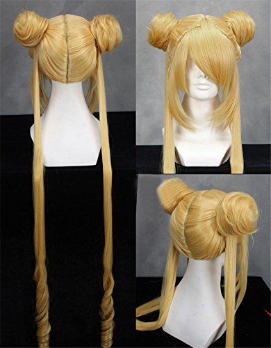 Sunny-business Anime Long Sailor Moon Light Golden of Cosplay Wig (Sailor Moon Cosplay Wig)