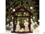 Lenox Innocence Nativity the Holy Family with Wooden Creche