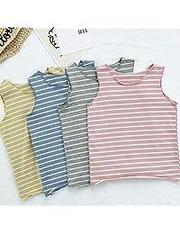 Cotton Tops Baby Boys Summer Vest, Girl Camisole Children Retro Color Undershirt Sleeveless 4Pcs,2T