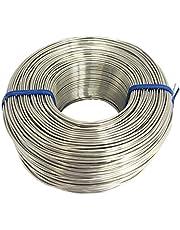 Tie Wire - (1X Rolls) of Premium Stainless Steel 18 Gauge Tie Wire - 3 1/8lb - 18 GA - Rebar Tie Wire (Stainless Steel Wire) (18 Gauge Stainless Steel, 1)