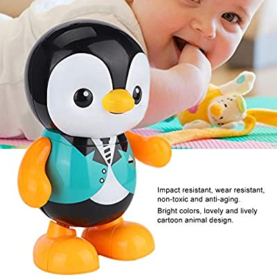 YOUTHINK Electric Penguin Animal Model Dancing Robot Singing Sound and Light Interactive Educational Kid Toy for Encourage Imaginative Boys Girls and Kids: Home & Kitchen