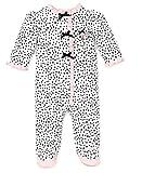 Little Me Baby-Girls Newborn Perfect Poodle Footie, White/Black, Newborn