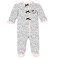 Little Me Baby-Girls Newborn Perfect Poodle Footie, White/Black, Preemie Mont...