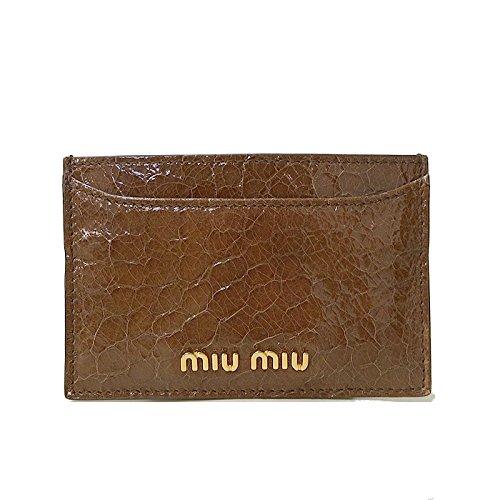 ミュウミュウ miumiu カードケース 5M0208 レザー マチ無しカードケース ST.COCCO LUX(クロコ調型押しレザー) TABACCO(ブラウン系) 【アウトレット】 [並行輸入品]   B07MR66Z3J
