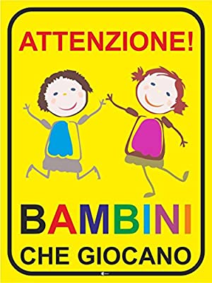 Segno Attenzione I Bambini Che Giocano Art Hin233 Attenzione