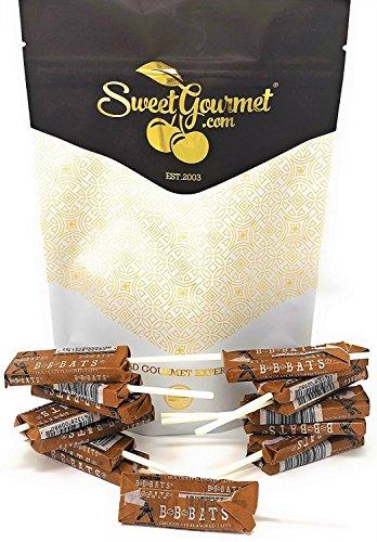 BB-Bats Original Taffy Chews, Chocolate Flavor - Pops Suckers - Bulk Candy 1 Pound -