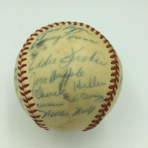 San Francisco Giants Team Ball (1961 San Francisco Giants Team Signed National League Baseball With Willie Mays - Autographed Baseballs)