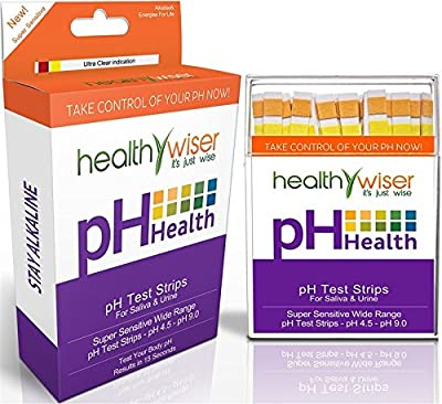 HealthyWiser 100 per Pack pH Test Strips