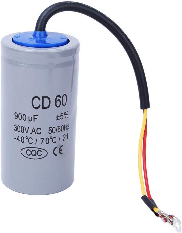 NO BRAND CKQ-KQ CD60 Capacitor, 300V CA 900uf Motor en Marcha Condensador de Arranque, -40 ° C / 70 ° C / 21 Ejecutar Condensador del Motor Condensador de Arranque, for la Bomba de Aire Acondicionado