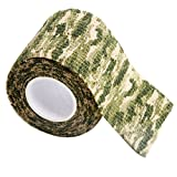 Gilroy 5CM X 4.5M Outdoor Camo Camouflage Wrap Tape for Hunting Rifle Gun Cycling Tool - Grass Green
