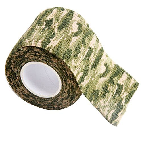 Gilroy 5CM X 4.5M Outdoor Camo Camouflage Wrap Tape for Hunting Rifle Gun Cycling Tool - Grass Green by Gilroy (Image #1)