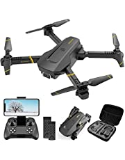 4DRC V4 Drone with 1080P HD Camera for Adults Kids, Foldable RC Quadcopter with FPV Live Video for Beginners Toys,Trajectory Flight, App Control,Altitude Hold ,One Key Returnand, 2 Modular Batteries