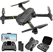 4DRC V4 Drone with 1080P HD Camera for Adults and Kids, Foldable Quadcopter with Wide Angle FPV Live Video, Tr