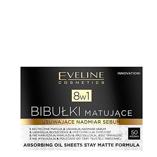 Eveline 8in1 Absorbing Oil Sheets Stay Matte Formula Face Blotting Paper 50Pcs