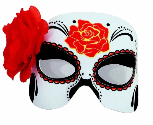 [Day Of The Dead Half Mask] (Day Of The Dead Female Mask)