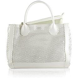 Steve Madden BPerfie Perforated Tote Handbag in White
