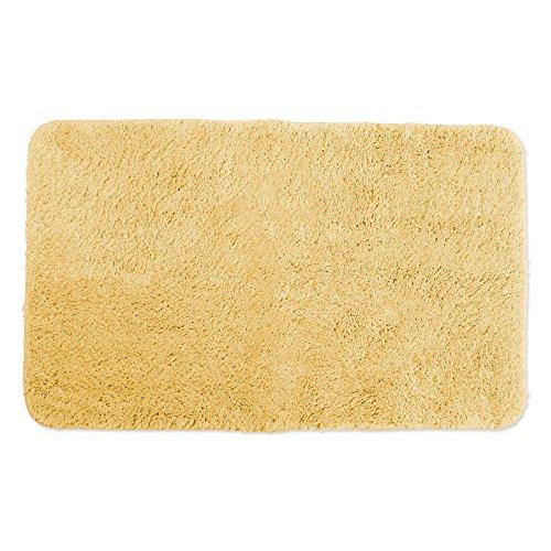 "Ultra Soft Absorbent Spa Microfiber Bath Rug, 24x40"", Machine Washable, Perfect Bath Mat for Shower, Vanity, Bath Tub, Sink, and Toilet-Yellow"