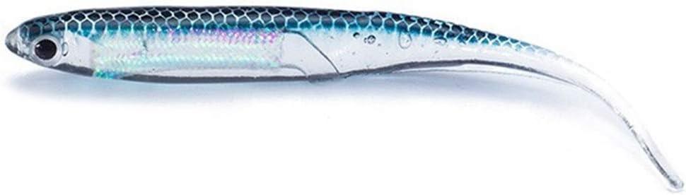 uyhghjhb 6 Unids//Set Artificial Suave Se/ñuelo Pez Jig Head Pesca Cebo Tackle Herramientas