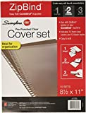 Swingline GBC ZipBind Pre-Punched Cover Set, Clear/Black, 10 Pack (26003)