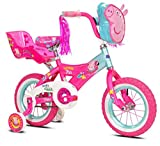 Girls 12 inch Peppa Pig Bike with Doll Seat