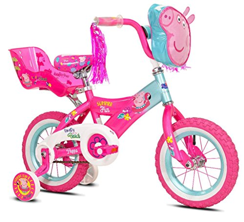 Girls 12 inch Peppa Pig Bike with Doll Seat by Kent International (Image #2)'