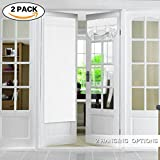 #4: FlamingoP Tricia Window Door Curtains, Pure White Blackout Curtain Rod Pocket, 2 Panels, 26 x 68 Inches